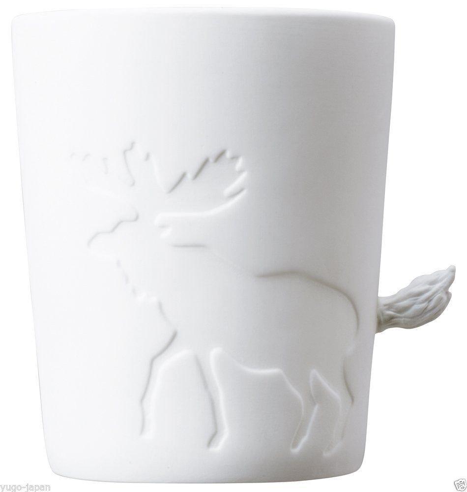 KINTO 8.7 inch Nonslip Slim Willow Tray and Three MUGTAIL Moose Porcelain Mug, Set of 4 by KitcheNova (Image #5)