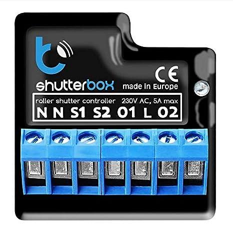 Blebox ShutterBox v2 Caja control inalámbrico eléctricos de persianas de Smart Home