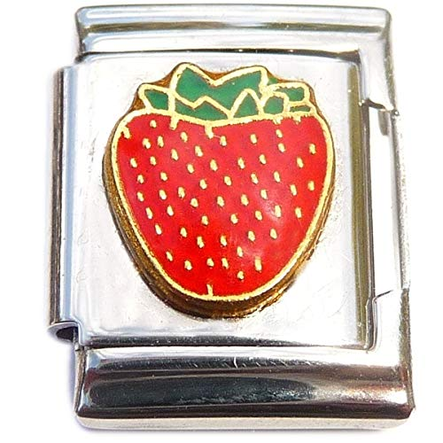 (Strawberry 13mm Italian Charm (not compatible with smaller 9mm charms))