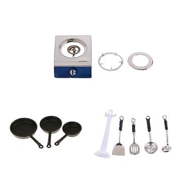 Amazon.es: D DOLITY Modelismo Estufa de Gas Mini Olla de Cocina de Muñeca Escala 1/12: Juguetes y juegos