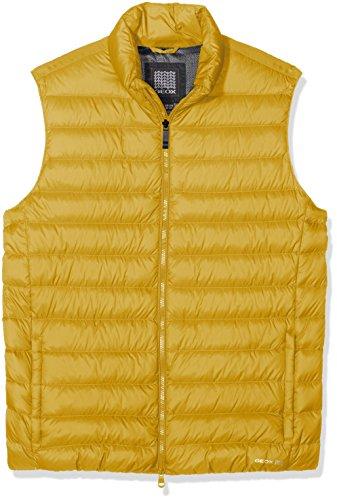 Titanium Hombre GEOX Ochre Amarillo Jacket F2069 Down para Chaqueta Man pw7pX8