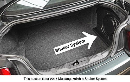 2015 2017 Mustang Ebony Black Trunk Mat With Shaker