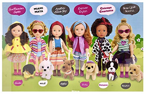 "City Pals Doll Miami Maya 14.5"" Doll & her Dog Milo"