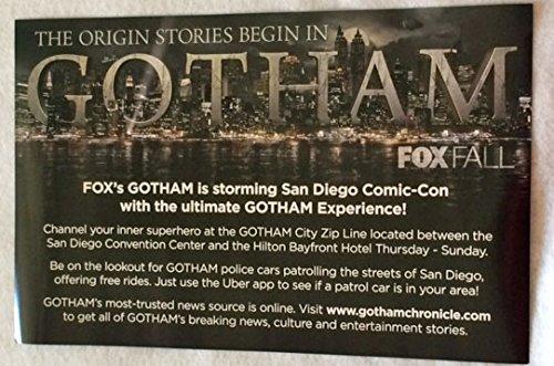 "GOTHAM D/S 11""x17"" Original Promo TV Poster SDCC 2014 Batman San Diego Comic Con"