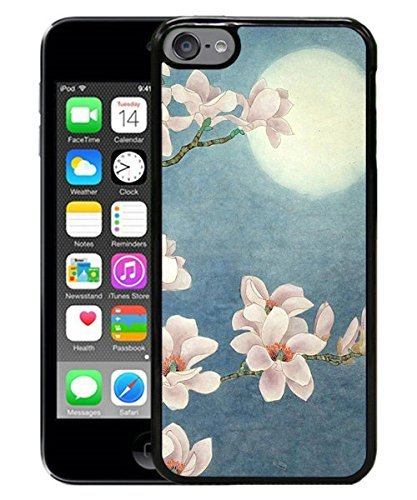 flower moon black for iPod touch 6 Case