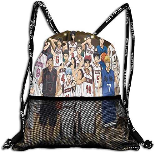 黒子のバスケ (5) 人気 ナップサック 通勤 通学 マルチ バッグ 旅行 多機能 ナップサック 男女兼用 スイミングバッグ 巾着袋 登山 防水 軽量 バンドルポケッ