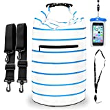 NVcompany Waterproof Bag - Dry Bag Kayaking And Camping 20L Roll Top Keeps Your Gear Dry While Rafting Boating At Beach Hiking And Fishing With Waterproof Phone Case