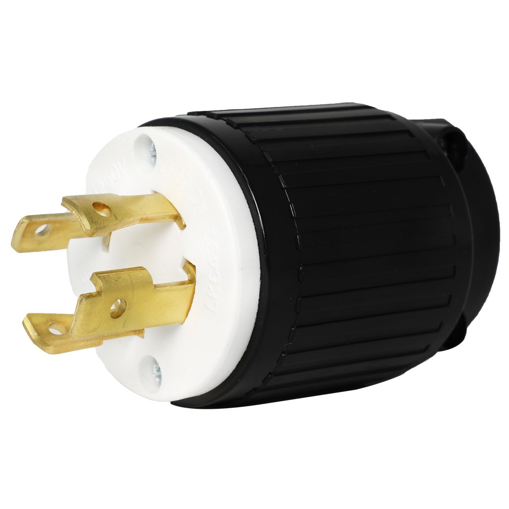 Iron Box L14-30 Generator Cord Plug - Rated 30A, 125/250V, 4-Prong, for 7500W Generator Exension Cable Part # IBX-L1430P