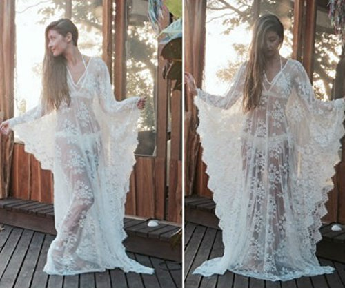 Soft Lace Caftan Dress, Beach Dress, Bridal Kaftan Dress