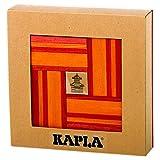 : Kapla 40 Unique Building Blocks w/ Book Red and Orange