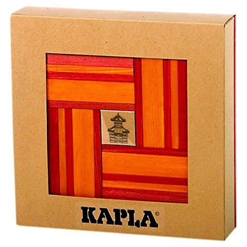 - KAPLA 40 Piece Red and Orange w/Book