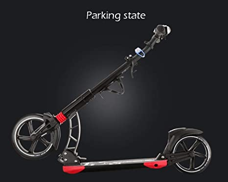 IG Patinete plegable negro, ruedas grandes de 230 mm para ...