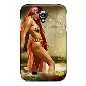 Faddish Phone Attractive Of Arabian Girl Case For Galaxy S4 / Perfect Case Cover
