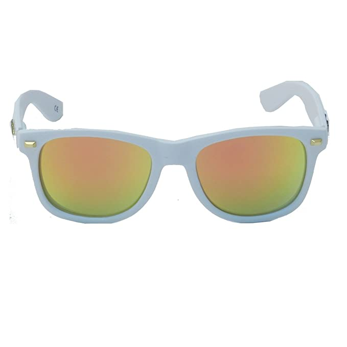 Gafas de Sol Knockaround Fort Knocks Matte White Sunset Polarizada