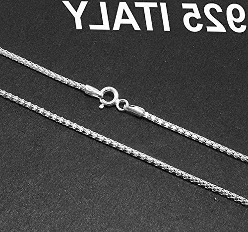 Hemau 1.5mm Italian Sturdy Round Coreana Popcorn Chain Necklace Real Sterling Silver | Model NCKLCS - 44 | 14 ()