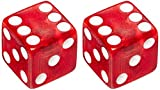 Trick Tops Dice, Clear/Red