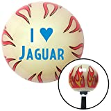 American Shifter 213312 Ivory Flame Shift Knob with M16 x 1.5 Insert (Blue I <3 JAGUAR)