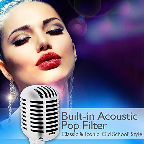 Pyle Pdmicr42Sl Classic Retro Vintage Style Dynamic Vocal Mic Slvr