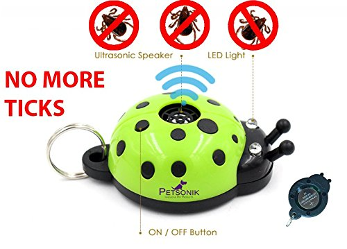 Petsonik Ultrasonic Ticks and Fleas Pest Repeller Lady Beetle Shape Safe Pest Repellent Control for Dogs Cats and   Safe to Human and Other Pets