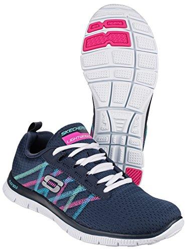 Something Women's Flex Fitness Navy Fun Appeal Shoes Skechers Multi zfqEwx4z