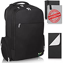3e55f688c Premium Large Capacity Baby Diaper Bag Backpack - Black Diaper Backpack  with 18 Pockets, Stroller