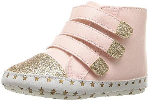 Rosie Pope Kids Footwear Girls' Be Yourself High Top Sneaker, Light Pink, 6-9 Months W US - Top Footwear High