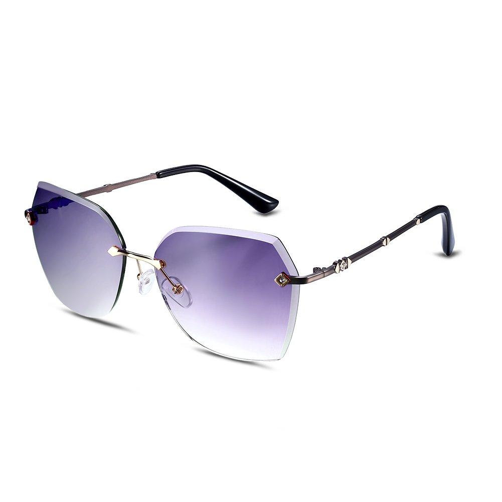 NYKKOLA Fashion occhiali da sole polarizzati lenti senza montatura occhiali per donne occhiali di pr...