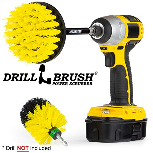 (Bathroom Accessories - Grout Cleaner - Drill Brush - Carpet Cleaner - Mini Corner Drill Brush and 4-inch Scrub Brush with Extension - Shower Cleaner - Bidet and Toilet Brush - Tub and Floor Scrubber)