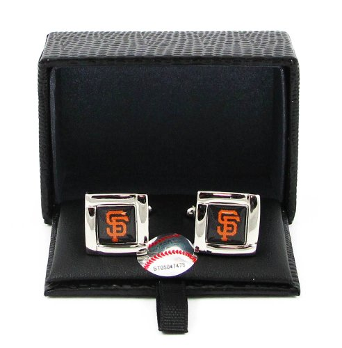 MLB San Francisco Giants Square Cuff Links (San Francisco Cufflinks Giants)