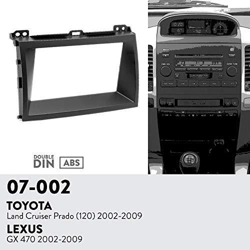 UGAR 07-002 Trim Fascia Car Radio Installation Mounting Kit for Toyota Land Cruiser Prado (120) 2002-2009/LEXUS GX 470 2002-2009 ()