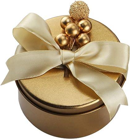 FGASAD - Juego de 12 Cajas de Regalo para Boda, graduación, Pascua, cumpleaños, Baby Shower, Compromiso, decoración de Mesa, Acero, Dorado, 7.5cm*7.5cm*4.5cm: Amazon.es: Hogar