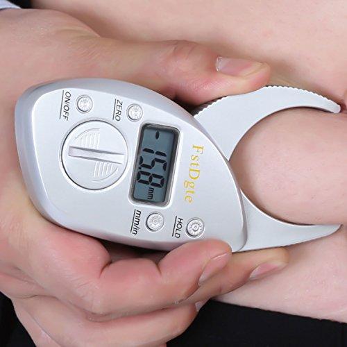 Digital Body Fat Caliper Calculator Skin Fold Analyzer LCD Display Measuring Tool,Lifetime Warranty by FstDgte