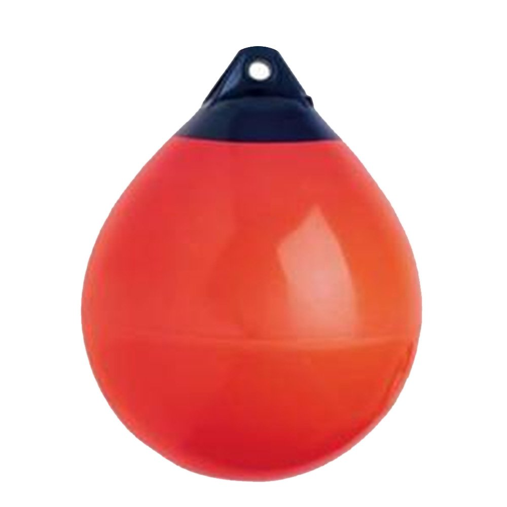 X-Haibei 1 Boat Fender Ball Round Anchor Buoy | Dock Bumper Ball Inflatable Vinyl A-Series Shield Protection Marine Mooring Buoy Red Dia. 9.8inchH 12.2inch