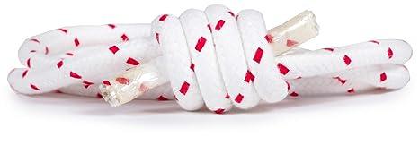 ecoYoga Cuerda adhomukha Blanca motas Rojas para Yoga ...
