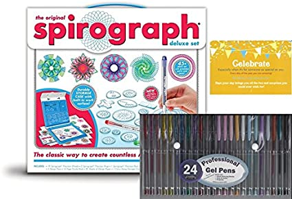 Spirograph Deluxe Design Set New Free Shipping
