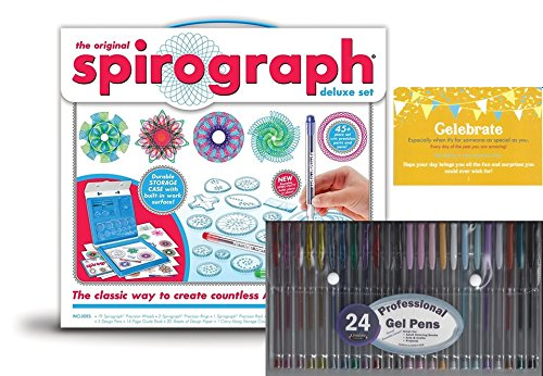 (Spirograph Deluxe Design Set with 24 pack gel)