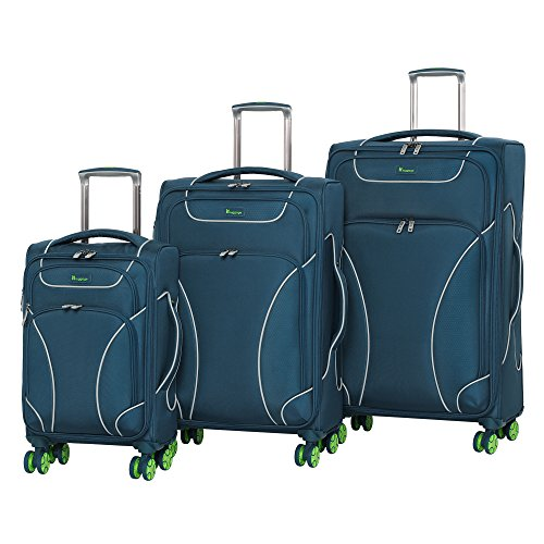 it luggage Architect 3 Piece 8 Wheel Spinner Set, Moroccan Blue by IT Luggage
