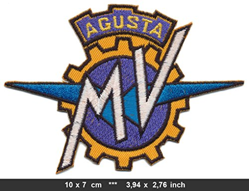 MV AGUSTA Iron Sew On Cotton Patches Motorcycles Motorbikes Ipotesi Veltro Strada Italy by RSPS Embroidery n Decals