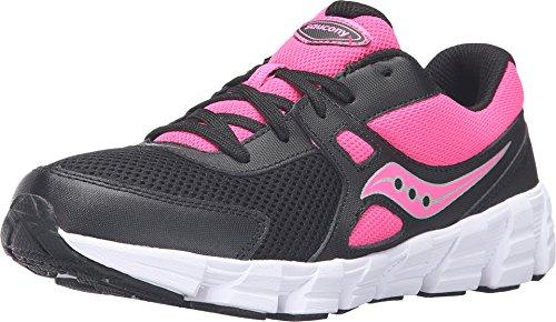Saucony Kids Girl's Vortex (Big Kid) Black/Pink Athletic Shoe