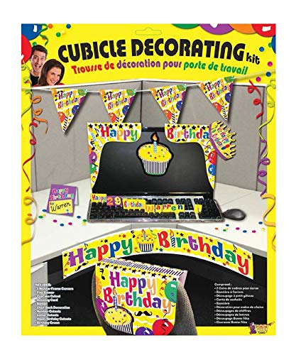 Forum Novelties Happy Birthday Cubicle Décor, Multi-Color