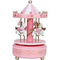 AUNMAS Merry-Go-Round Music Box Carrusel Caja Musical