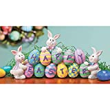 easter home decorations Fun Express - Resin Easter Egg Tabletop for Easter - Home Decor - Figurines - Molded - Easter - 1 Piece