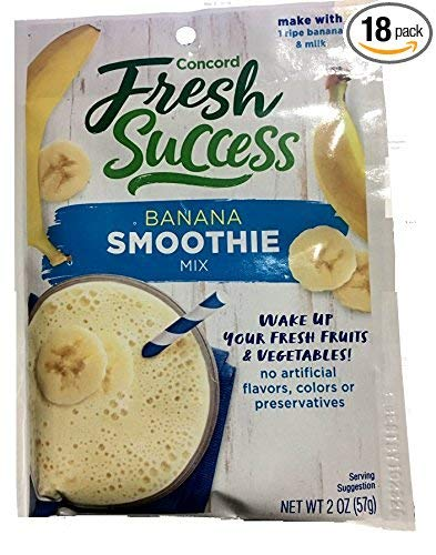 - Concord Farms Banana Smoothie Mix 2 oz Pouch (VALUE Pack of 12 Pouches)