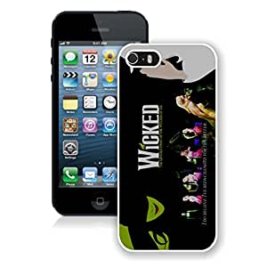 New Unique DIY Antiskid Skin Case For Iphone 5S Wicked Musical 1 iPhone 5s White Phone Case 439