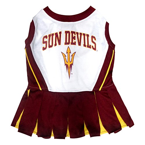 Pets First Collegiate Arizona State University Sun Devils Dog Cheerleader Dress, Medium