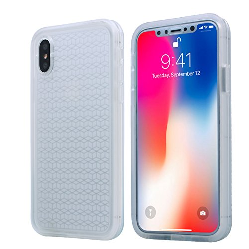 iPhone X Waterproof Case, AICase IPX-6 Water Resistant [360 All Round Protective] Ultra Slim Thin Light Shock/Dust/Snow Proof Case with Built-in Screen Protector for Apple iPhone X(2017) (Clear)