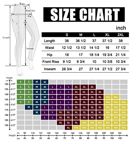 Large Product Image of ODODOS High Waist Out Pocket Yoga Pants Tummy Control Workout Running 4 Way Stretch Yoga Leggings