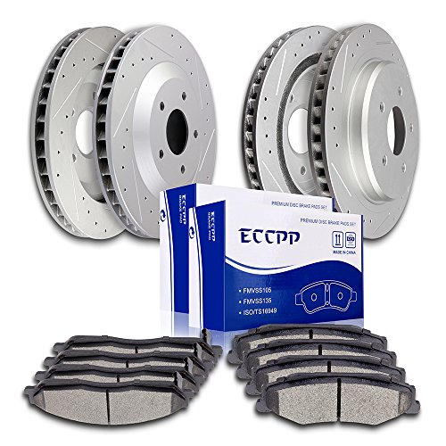 Pads Kits,ECCPP 4pcs Front Rear Discs Brake Rotors and 8pcs Ceramic Disc Brake Pads Set for 1997 1998 1999 2000 2001 2002 2003 2004 Chevrolet Corvette ()