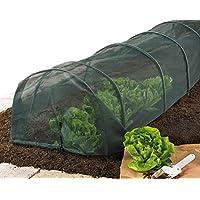Tunnel-Gewächshaus mit robuster Netzstoff-Abdeckung, zum Schutz für Garten, Schrebergarten, Pflanzen, Gemüse, Obst