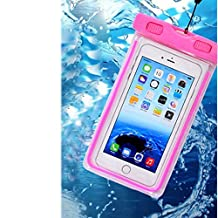Universal Waterproof Case, CaseHQ 1Pack Clear Transparent Cellphone Waterproof, Dustproof Dry Bag With Neck Strap for iphone 7,7 Plus,6S,6S Plus,google pixel,and All Devices Up to 5.6 Inches